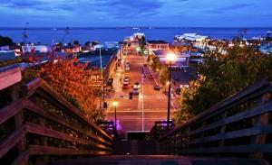 Evening settles in across Port Angeles