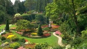 A myriad-hued garden in Victoria, British Columbia, Canada